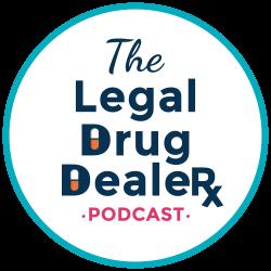 The Legal Drug dealer podcast logo